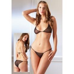 Cottelli - Tüll bikini (fekete)