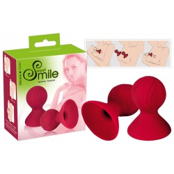 Smile Nipple Teaser - szilikon bimbószívók (piros)