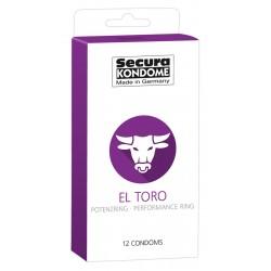 Secura El Toro - potenciagyűrűs óvszerek (12db)
