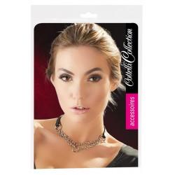 Cottelli - dupla láncos, gyűrűs nyaklánc (ezüst-fekete)