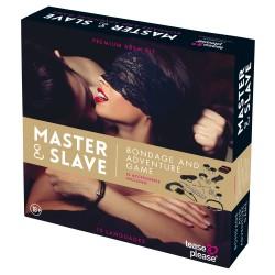 Master & Slave - Kötözős játék szett (barna-fekete)