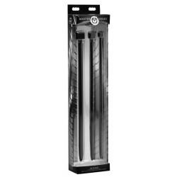 Master Series Bolted XL - kockás szilikon húgycsőtágító dildó szett (3 részes) - nagy