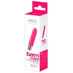 VeDO Bam Mini - akkus, szilikon rúdvibrátor (pink)