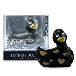 My Duckie Romance 2.0 - szíves kacsa vízálló csiklóvibrátor (fekete-arany)