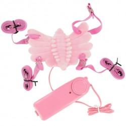 Butterfly Massager - felcsatolható csiklóvibrátor (pink)