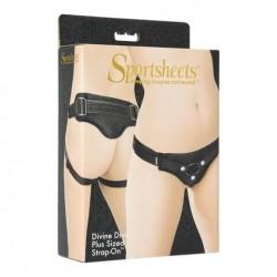 / Sportsheets Plus Size - univerzális alsó felcsatolható termékekhez (fekete)
