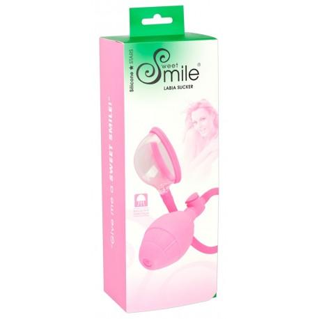Smile Labia Sucker - vaginaszívó pumpa (pink)