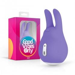 Good Vibes Tedy - akkus, nyuszis csikló vibrátor (lila)