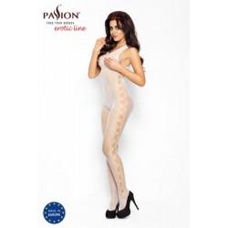 Passion BS003 - oldalt lyukacsos necc overall (fehér) - S-L